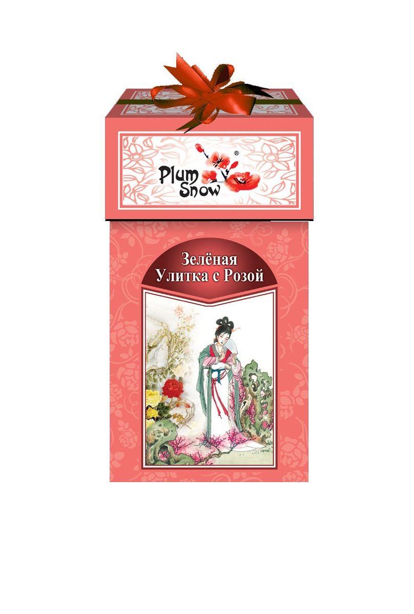 Plum Snow Зеленая улитка зеленый листовой чай с розой, 100 г c pe153 yunnan run pin 7262 семь сыну пуэр спелый чай здравоохранение чай puerh китайский чай pu er 357g зеленая пища
