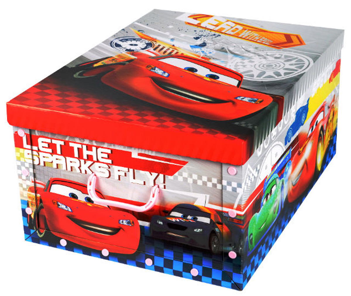 """Коробка для хранения Disney """"Тачки"""", выполненная из высококачественного гофрированного картона, идеально подойдет для хранения игрушек, одежды, книг, канцелярских принадлежностей и других мелких предметов. Изделие легко собирается и не занимает много места. Коробка декорирована изображением героя мультфильма """"Тачки"""" и оснащена удобными ручками для транспортировки.Коробка Disney """"Тачки"""" поможет хранить все в одном месте, а также защитить вещи от пыли, грязи и влаги. Размер коробки (в собранном виде): 40 х 50 х 25 см."""