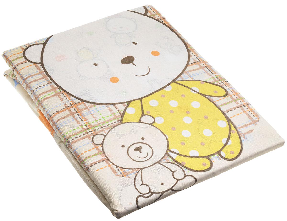 Топотушки Комплект детского постельного белья Мой Медвежонок цвет бежевый 3 предмета комплекты белья rhs комплект белья