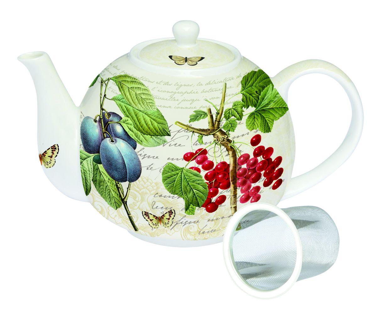 Чайник заварочный Nuova R2S Смородина Ботаника, с ситечком, 1 л чайник заварочный nuova cer итальянские фрукты 1 л