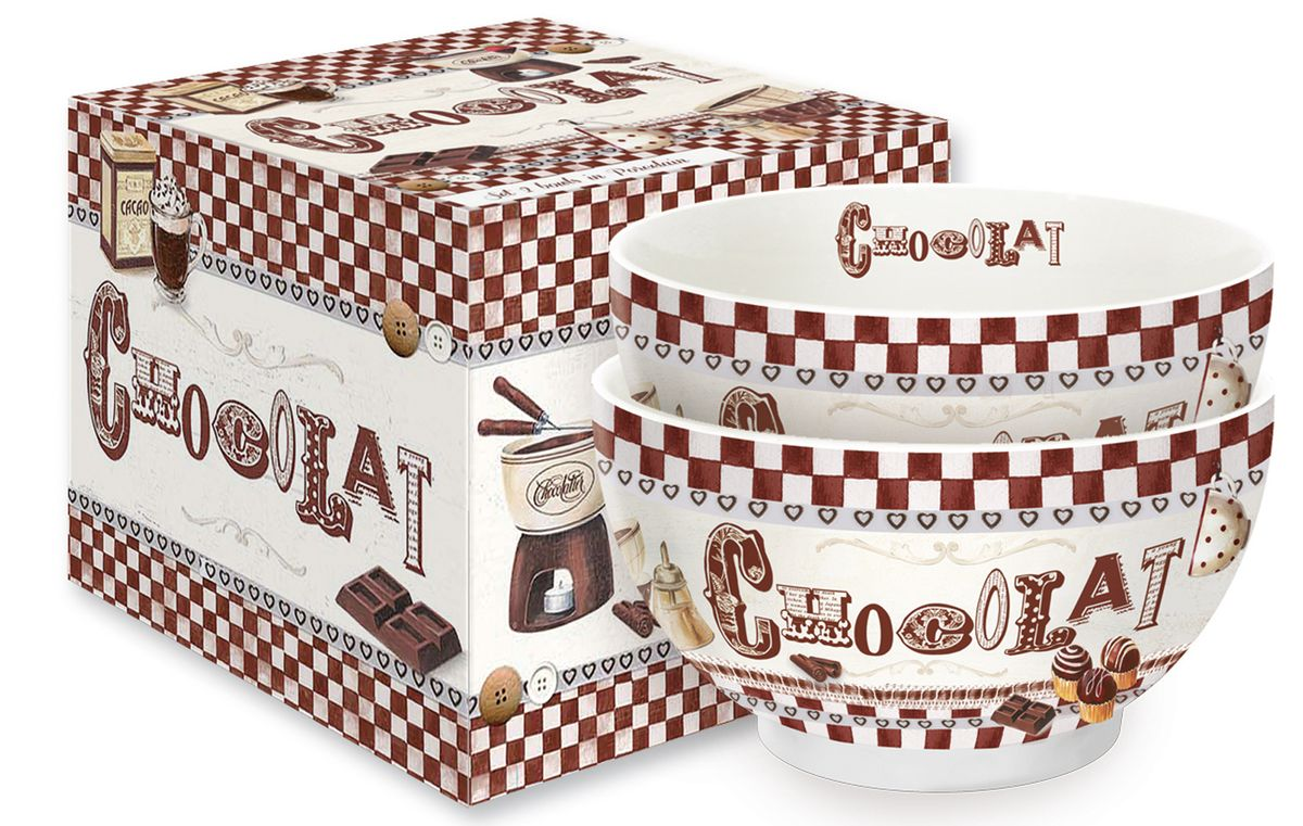 Набор мисок Nuova R2S Шоколадное фондю, фарфор, 13 см, 2 шт212FOND