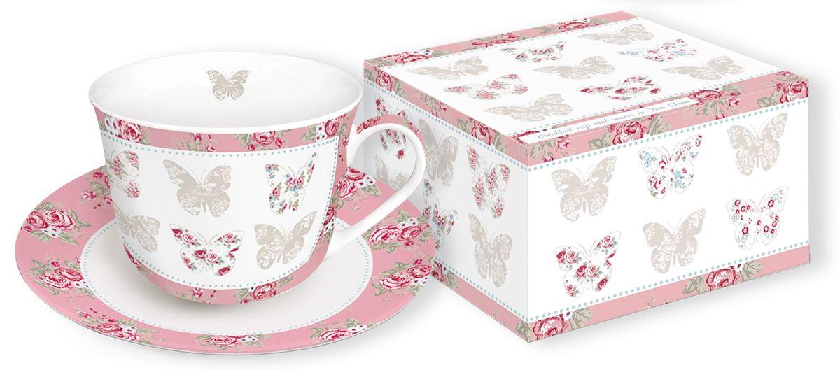 Кружка Nuova R2S Розовые бабочки, 400 мл251MAPI