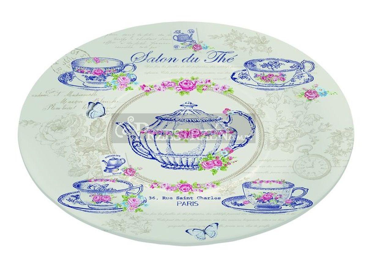 Блюдо Nuova R2S Чайный салон , стекло, диаметр 15 см блюдо nuova r2s спагетти диаметр 30 см