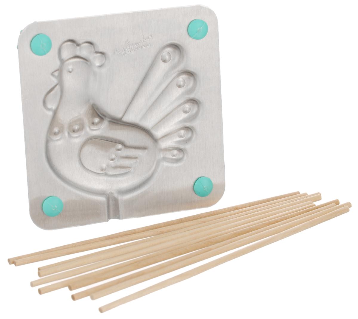 Форма для леденцов Курочка Ряба, 9,5 х 9,5 см формы для приготовления леденцов на палочке