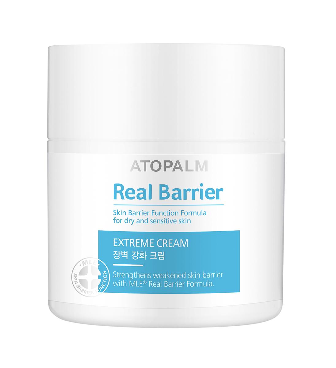 Atopalm Защитный крем Real Barrier, 50 мл8809048415638Компанияпроизводитель Neopharm разработала уникальную технологию защиты кожи, основанную на MLE. MLE – это многослойная эмульсия, которая воспроизводит слоистую структуру кожи и быстро и эффективно восстанавливает её барьерную функцию. Серия средств Real Barrier содержит комплекс компонентов, которые успокаивают, восстанавливают и защищают чувствительную и сухую кожу. Крем защищает кожу, удерживает влагу, увеличивает эластичность и поддерживает оптимальный уровень увлажненности на протяжении 72 часов (согласно результатам тестов).