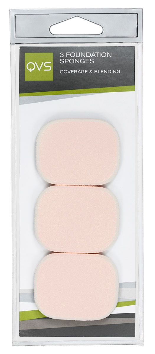 QVS Спонжи запасные для нанесения основы макияжа любого типа ( кремообразной и водной ), 3 шт10-1074Спонжи запасные для нанесения основы макияжа любого(кремообразной и водной)