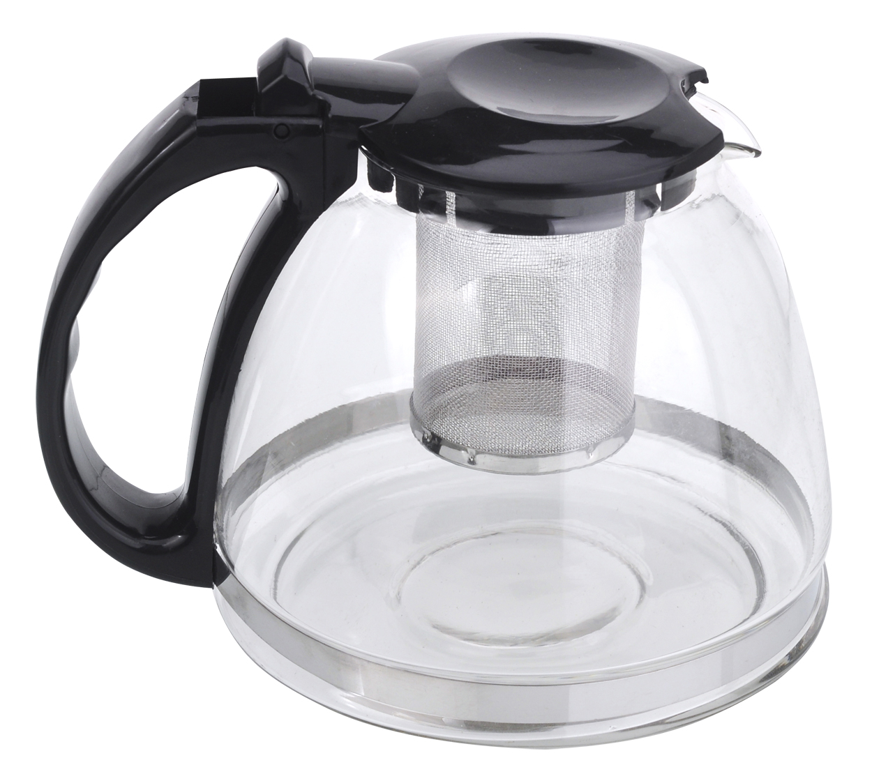 Чайник заварочный МФК-профит, с фильтром, цвет: черный, 1,3 л8130Заварочный чайник МФК-профит предоставит вам все необходимые возможности для успешного заваривания чая. Он изготовлен из термостойкого стекла и оснащен крышкой и ручкой из пластика, также имеется вставка из нержавеющей стали. Чай в таком чайнике дольше остается горячим, а полезные и ароматические вещества полностью сохраняются в напитке. Чайник оснащен фильтром, который выполнен из нержавеющей стали. Простой и удобный чайник поможет вам приготовить крепкий, ароматный чай. Нельзя мыть в посудомоечной машине. Не использовать в микроволновой печи.