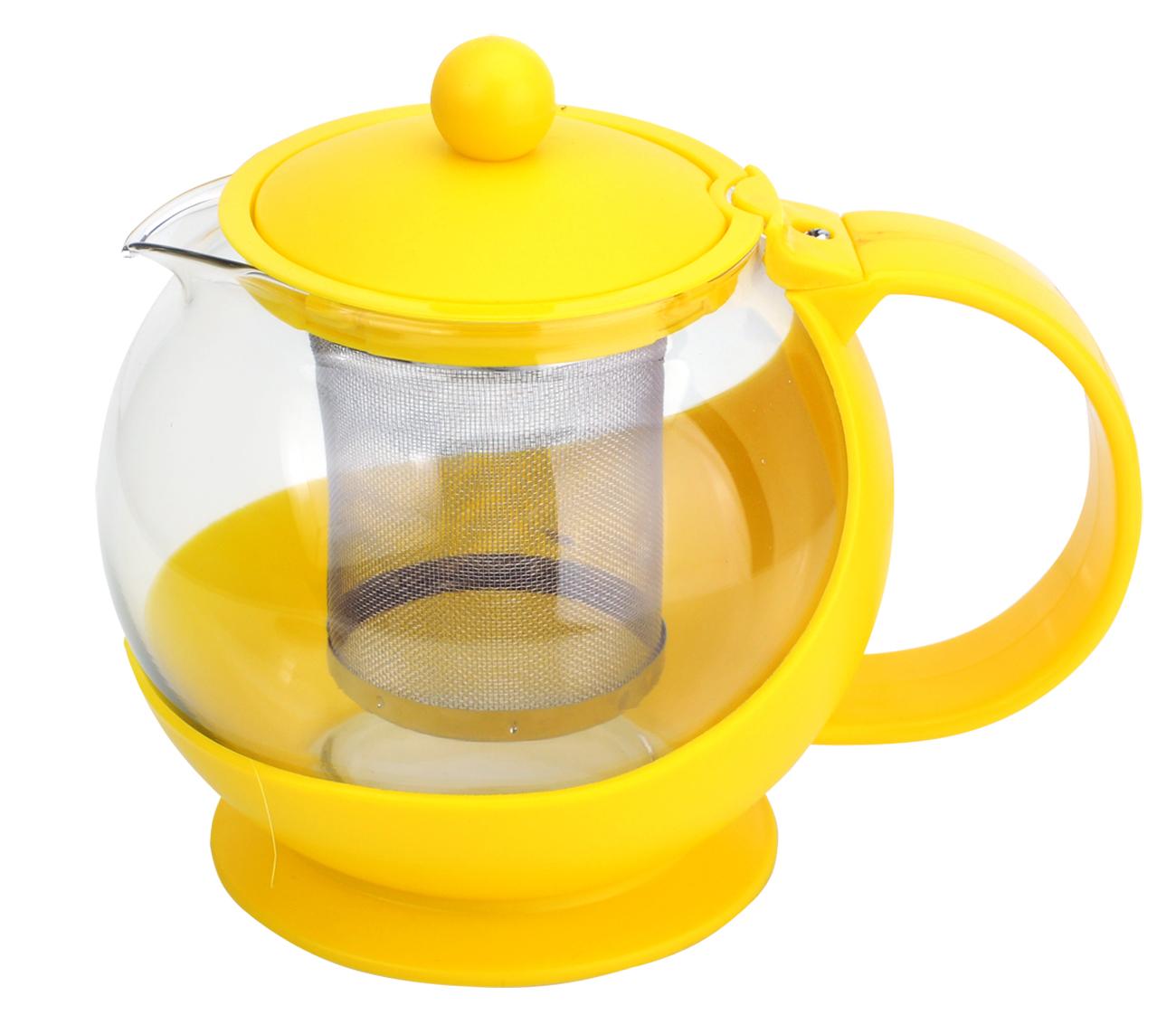 Чайник заварочный МФК-профит, с фильтром, цвет: желтый, 750 млA108-1Заварочный чайник МФК-профит предоставит вам все необходимые возможности для успешного заваривания чая. Он изготовлен из термостойкого стекла и оснащен крышкой и ручкой из пластика, также имеется вставка из нержавеющей стали. Чай в таком чайнике дольше остается горячим, а полезные и ароматические вещества полностью сохраняются в напитке. Чайник оснащен фильтром, который выполнен из нержавеющей стали. Простой и удобный чайник поможет вам приготовить крепкий, ароматный чай. Нельзя мыть в посудомоечной машине. Не использовать в микроволновой печи.