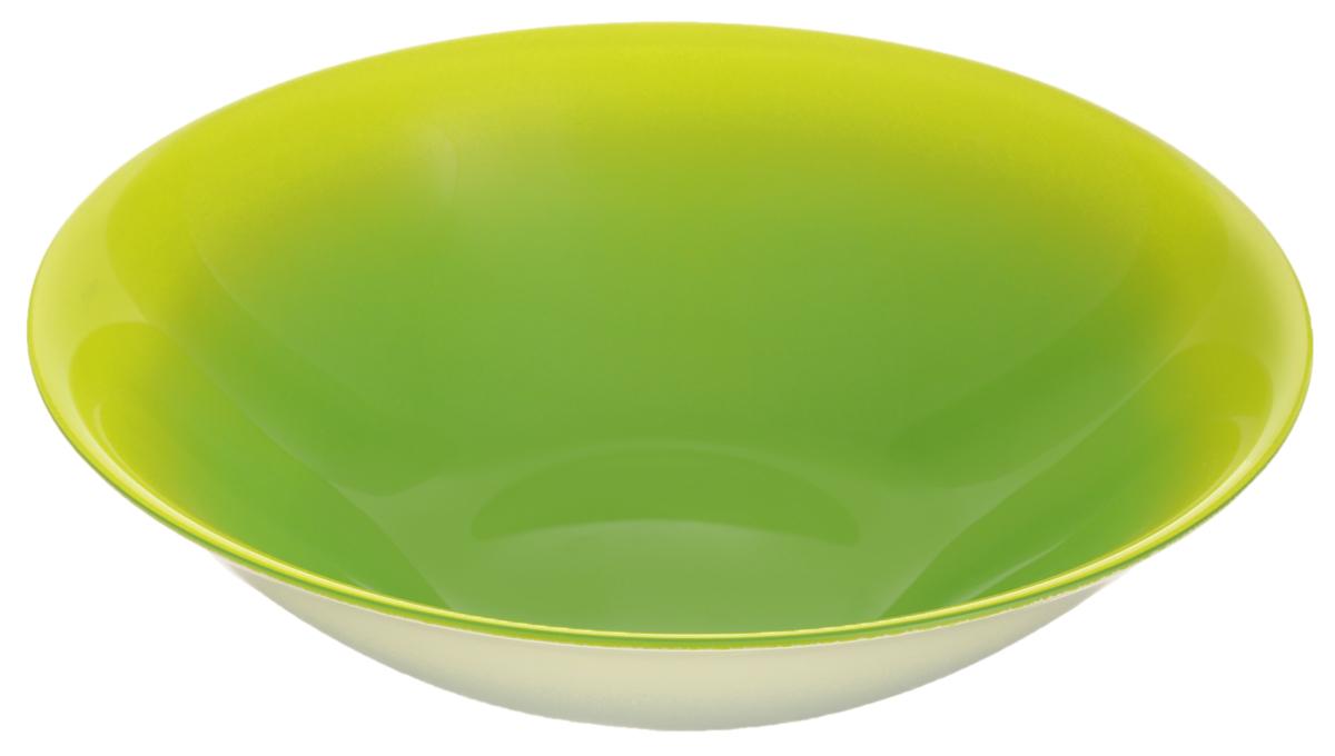 Миска Luminarc Fizz Mint, диаметр 16,5G9523Миска Luminarc Fizz Mint выполнена из высококачественного стекла. Изделие сочетает в себе изысканный дизайн с максимальной функциональностью. Она прекрасно впишется в интерьер вашей кухни и станет достойным дополнением к кухонному инвентарю. Миска Fizz Mint подчеркнет прекрасный вкус хозяйки и станет отличным подарком. Диаметр миски (по верхнему краю): 16,5 см. Высота стенки: 4,5 см.
