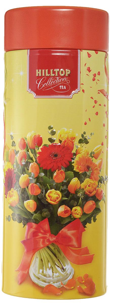 Hilltop Праздничные тюльпаны. Королевское золото черный листовой чай, 100 г