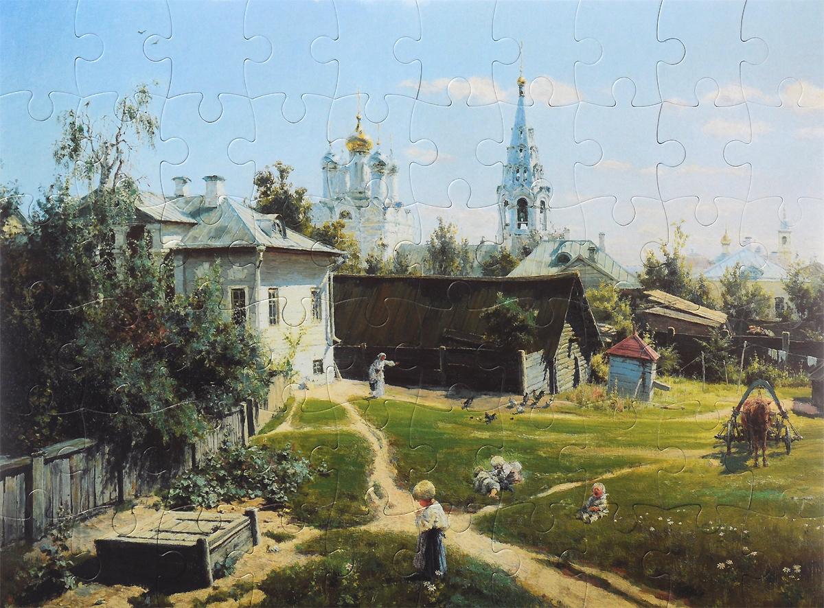 Василий Поленов. Московский дворик. 1878. Пазл, 60 элементов