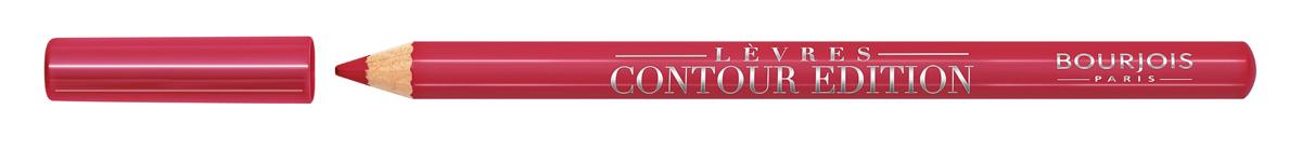 Bourjois Карандаш Контурный Для Губ Levres Contour Edition Тон 04 chaud comme la fraise 1 мл29101284004Контурный карандаш для ryб Levres Contour от Bourjois, отвечает всем требованиям современной женщины. Благодаря своей мягкой и тающей кремообразной текстуре карандаш легко наносится и придает губам ровный и четкий контур. Позволяет помаде лучше держаться на губах. Чрезвычайно мягкая, тающая текстура скользит и рисует на губах безупречную линию. Оттенки карандаша идеально соответствуют любому типу помады и блесков Bourjois