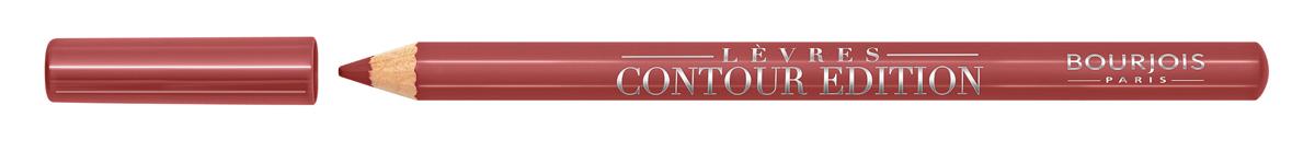 Bourjois Карандаш Контурный Для Губ Levres Contour Edition Тон 01 nude wave 1 мл29101284001Контурный карандаш для ryб Levres Contour от Bourjois, отвечает всем требованиям современной женщины. Благодаря своей мягкой и тающей кремообразной текстуре карандаш легко наносится и придает губам ровный и четкий контур. Позволяет помаде лучше держаться на губах. Чрезвычайно мягкая, тающая текстура скользит и рисует на губах безупречную линию. Оттенки карандаша идеально соответствуют любому типу помады и блесков Bourjois