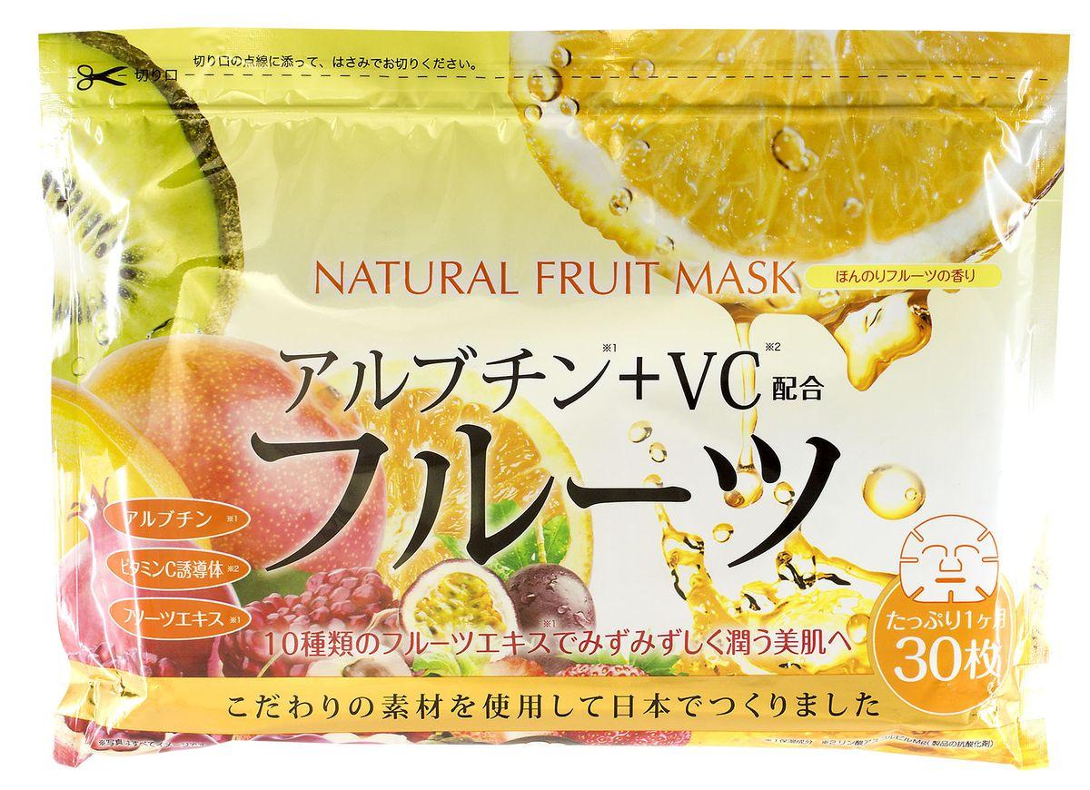 Japan Gals Курс натуральных масок для лица с фруктовыми экстрактами, 30 шт10973JAPAN GALS курс натуральных масок для лица с фруктовыми экстрактами 30 штукСостав, входящий в сыворотку и пропитывающий маску, проникает глубоко в кожу, успокаивая и увлажняя ее изнутри.Главные активные компоненты:Арбутин - бережно избавляет кожу от пигментных пятен, глубоко увлажняет и оказывает противовоспалительный эффект.Витамин С - заживляет раны, защищает и восстанавливает кожу, а также предотвращает ее от преждевременного старения. После впитывания в кожу витамин С не удаляется при мытье еще в течение трех дней.Экстракт манго - великолепно питает, увлажняет и тонизирует кожуЭкстракт черимойа – снимает воспаления и успокаивает кожуЭкстракт мангостина – мощный антиоксидантЭкстракт личи – глубокое увлажняющее действиеЭкстракт киви – помогает в борьбе с акнеЭкстракт клубники – препятствует разрушению коллагенаЭкстракт апельсина – препятствует образованию свободных радикаловЭкстракт граната – предотвращает преждевременное старение кожиЭкстракт маракуйа - восстанавливает защитный липидный слой Экстракт черешни – оказывает тонизирующий эффект Способ применения: Расправить маску. Плотно приложить к чистому лицу. Держать в течение 10-15 минут. При использовании маски на глаза веки следует держать закрытыми. Для особо тщательной проработки зоны под глазами сложите накладку. После использования лицо не требует дополнительного умывания. Меры предосторожности: Аллергические реакции возможны только в случае индивидуальной непереносимости отдельных компонентов. При покраснении, зуде, раздражении, прекратить применение продукта и проконсультироваться со специалистом. Не использовать при открытых ранах и опухолях. В целях гигиены следует использовать маску только один раз. Рекомендуется доставать маску из упаковки чистыми руками.Способ хранения: Держать в недоступном для детей месте. Во избежание попадания инородных тел, выливания жидкости или пересыхания, после использования плотно закрыть молнию 