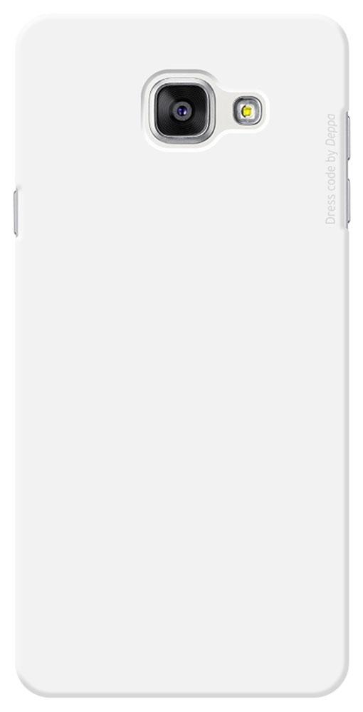 Deppa Air Case чехол для Samsung Galaxy A7(2016), White83234Чехол Deppa Air Case для Samsung Galaxy A7(2016) предназначен для защиты корпуса смартфона от механических повреждений и царапин в процессе эксплуатации. Имеется свободный доступ ко всем разъемам и кнопкам устройства. Чехол изготовлен из поликарбоната Teijin производства Японии с покрытием Soft touch.