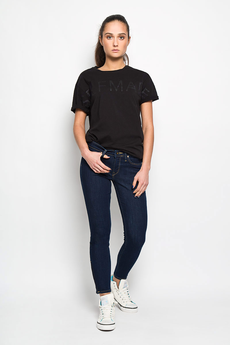 Джинсы женские Lee Scarlett Cropped, цвет: синий. L30CHAKT. Размер 30-31 (46-31) женские джинсы lee
