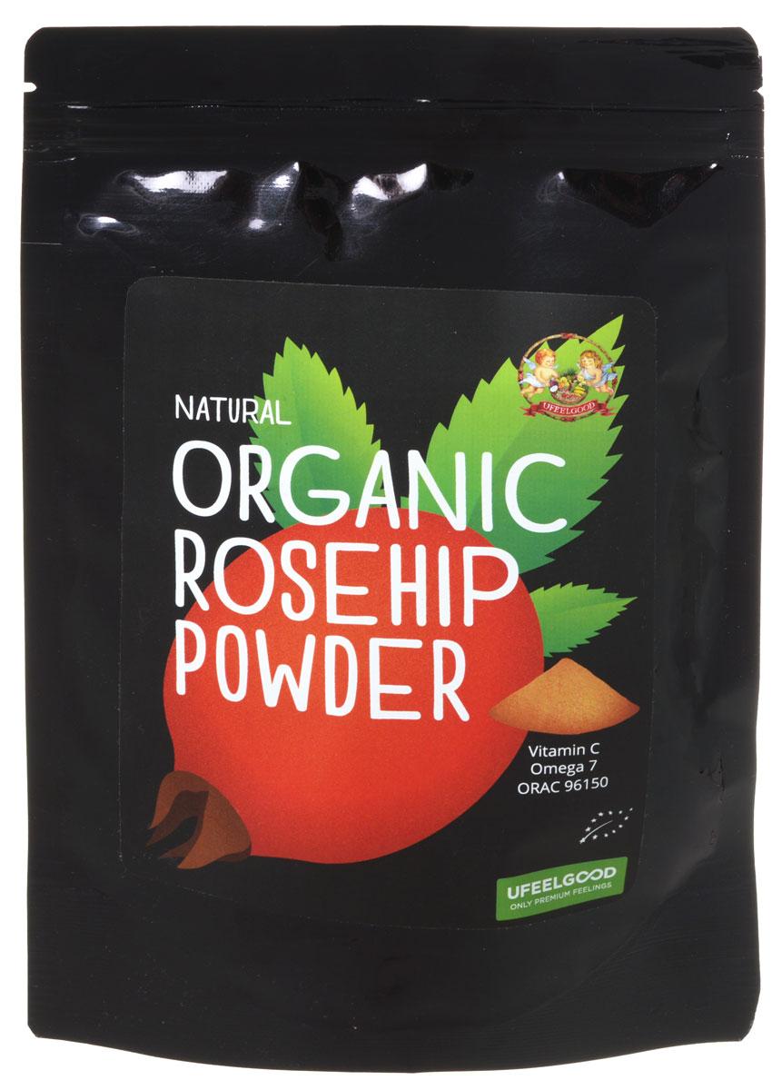 UFEELGOOD Organic Rosehip Powder органический шиповник молотый, 100 г ufeelgood organic hemp premium seeds конопляные семена очищенные 150 г