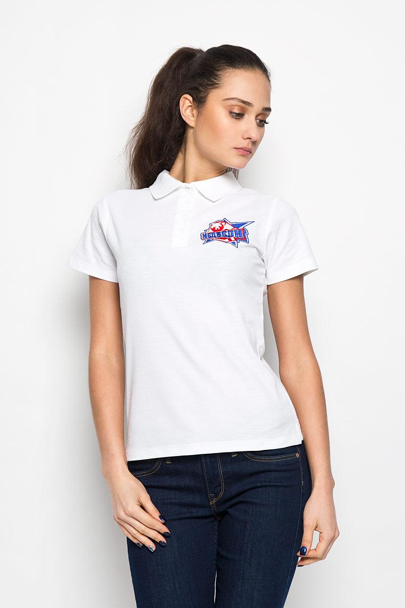 Поло женское Robin Ruth Молодежка, цвет: белый. PW001. Размер M (46) футболка мужская robin ruth медведи цвет белый синий красный mv 003 размер m 46 48