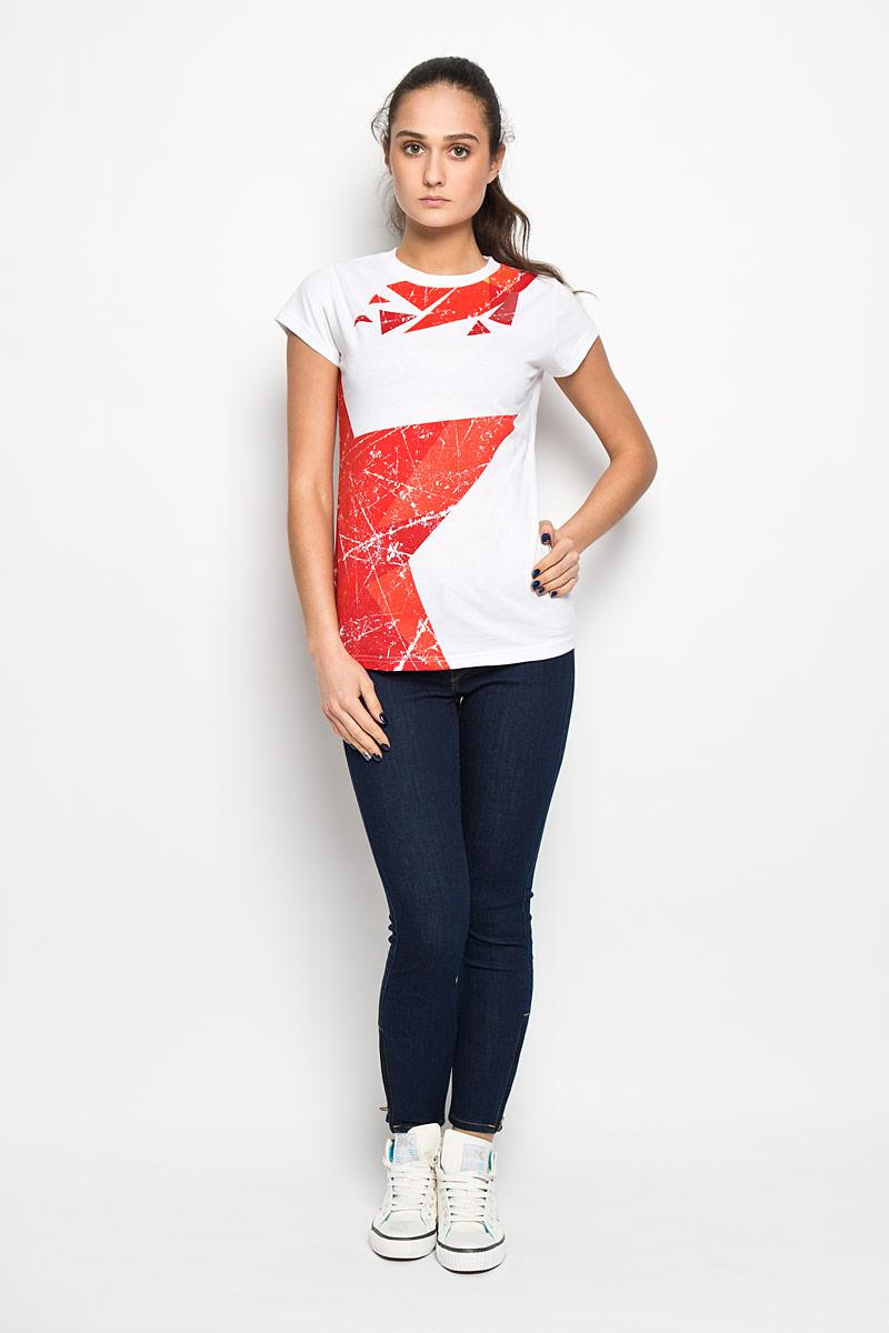 цена Футболка женская Robin Ruth Молодежка, цвет: белый, красный. MV004. Размер XS (42) онлайн в 2017 году