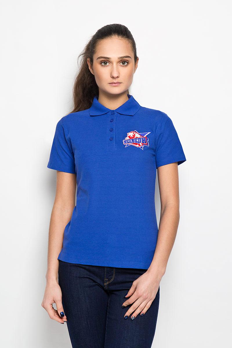 Поло женское Robin Ruth Молодежка, цвет: голубой. PW002. Размер XS (42) футболка мужская robin ruth медведи цвет белый синий красный mv 003 размер m 46 48