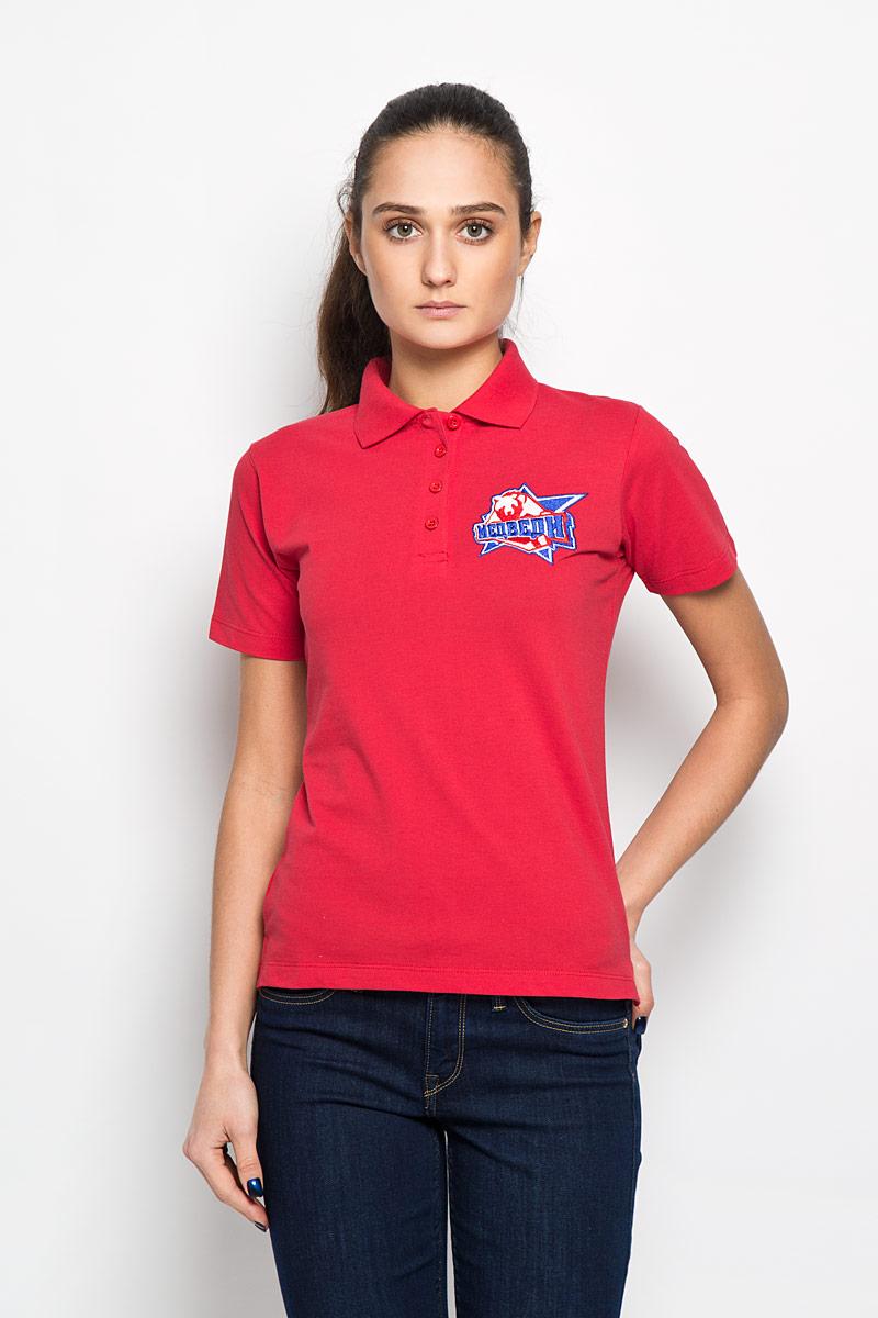 Поло женское Robin Ruth Молодежка, цвет: красный. PW003. Размер S (44) футболка мужская robin ruth медведи цвет белый синий красный mv 003 размер m 46 48