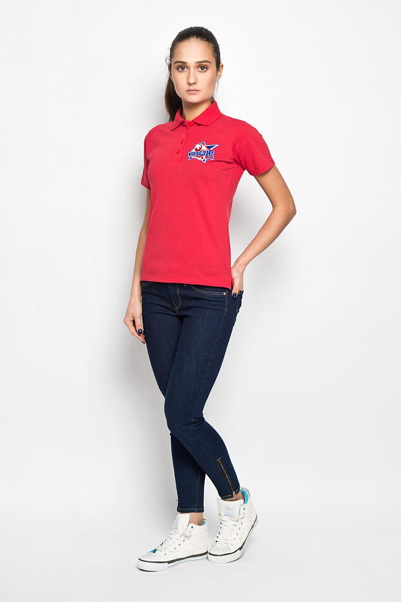 цена Поло женское Robin Ruth Молодежка, цвет: красный. PW003. Размер S (44) онлайн в 2017 году