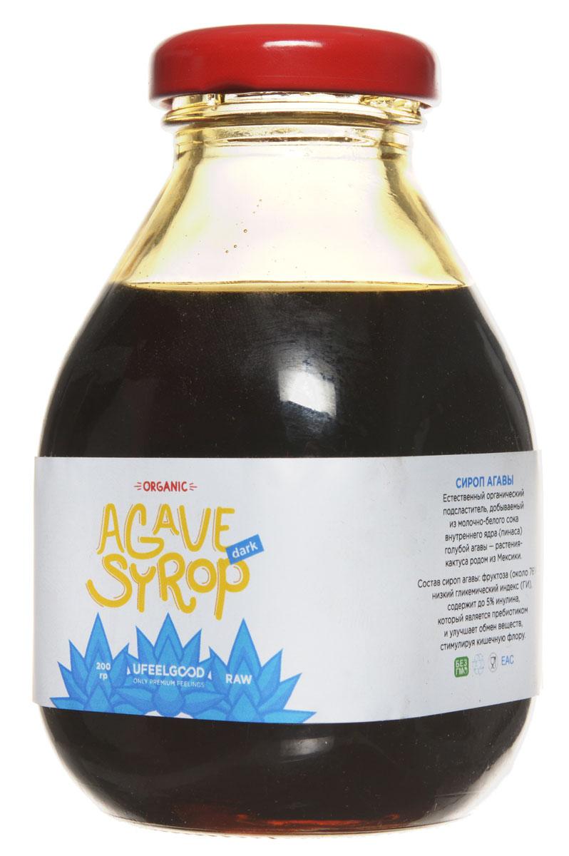 UFEELGOOD Organic Syrup Agava органический сироп агавы, 200 мл149Агава – это кактус, который распространён в западной Мексике. Науке известны 136 его видов, среди который особенно популярна голубая агава. Индейцами Южной и ЦентральнойАмерики полезные свойства агавы и вкусовые качества этого растения используются несколько тысяч лет. Нектар агавы они применяли в приготовлении пищи, разных напитков и - удивительно - ткани.В наши дни широким спросом во всем мире пользуется сироп голубой агавы благодаря натуральным свойствам и приятной сладости. Такой сироп — натуральный органический подсластитель, который добывается из сока пинаса - ядра голубой агавы. Сок этот имеет белый цвет, а конечный продукт может быть любого другого оттенка.Более 76% состава сиропа агавы от UFEELGOOD составляет органическая фруктоза - которая слаще и гораздо полезнее сахара. В пользу сиропа агавы говорят следующие его свойства:Низкий гликемический индекс (47 из 100)Блокировка выработки инсулинаМалое содержание углеводов в сравнении с равной дозой сахараМедленное расщеплениеПоэтому употребление сиропа голубой агавы полезно людям с избыточной массой тела, аллергикам, тем, кому необходимо контролировать свой вес. Главное – в умеренных дозах он показан даже страдающим сахарным диабетом обоих типов.Инулин, входящий в состав сиропа агавы, – природный пребиотик, которыйСтимулирует работу кишечникаУскоряет усвоение прочих полезных элементовНормализует обмен веществ, способствуя снижению массы тела