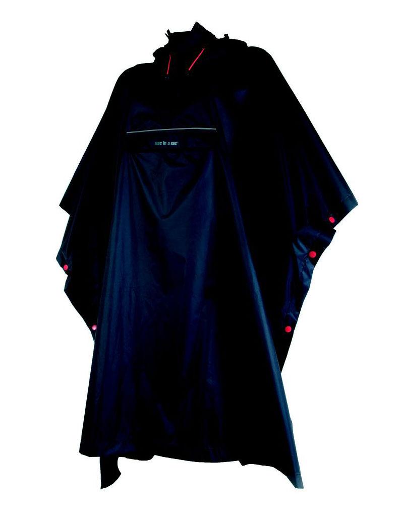 Плащ-пончо Mac in Sac Outdoor Unisex, цвет: темно-синий. Размер универсальный