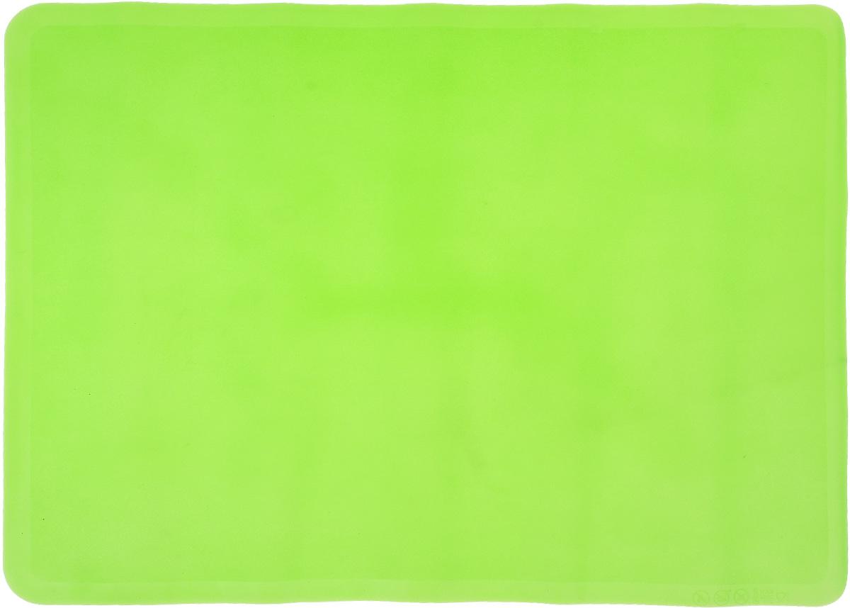 Коврик для теста Elan Gallery, силиконовый, цвет: зеленый, 40 х 30 см590073Силиконовый коврик Elan Gallery предназначен для раскатки теста. Онидеально прилегает к поверхности стола. Коврик легко моется и не впитывает запахи, гигиеничен, к нему не липнет тесто.