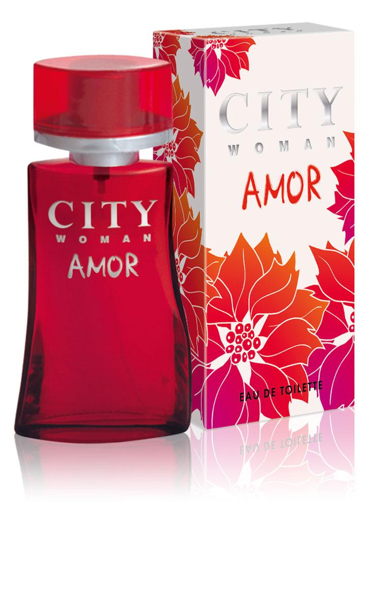 City Woman Amor. Туалетная вода, 60 мл туалетная вода etro patchouly объем 100 мл
