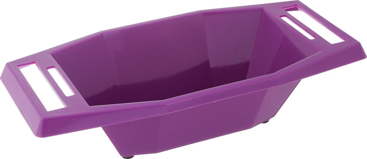 Судок для овощерезок и терок Borner, цвет: сиреневый, 18,5 х 35 х 8,5 см3810327Судок Borner изготовлен из пищевого пластика, устойчивого к воздействию уксуса и масла. Благодаря этому в нем можно готовить и подавать на стол любые салаты. Резиновые ножки не дадут судку скользить по столу. Ручки изделия имеют специальные прорези, в которых любая овощерезка и терка Borner крепится горизонтально и жестко. С судком Borner вам не придется собирать резаные овощи со стола и вытирать сок - все будет быстро, чисто и практично. С ним ваша работа будет намного эффективнее и гигиеничнее.