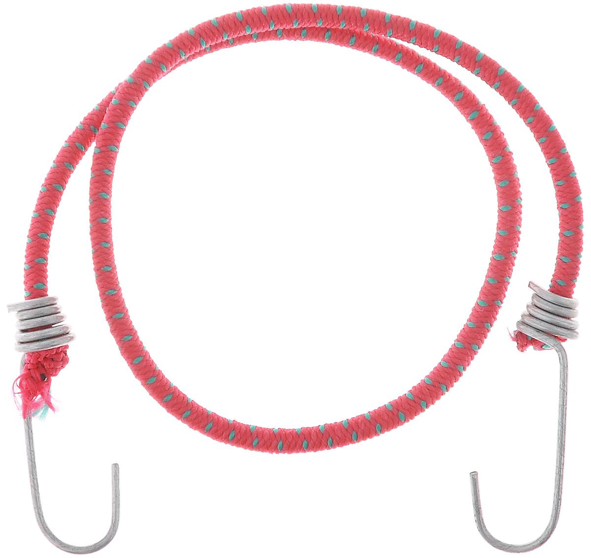 Резинка багажная МастерПроф, с крючками, цвет: красный, зеленый, 0,6 х 80 см. АС.020021АС.020021_красныйБагажная резинка МастерПроф, выполненная из синтетического каучука, оснащена специальными металлическими крючками, которые обеспечивают прочное крепление и не допускают смещения груза во время его перевозки. Изделие применяется для закрепления предметов к багажнику. Такая резинка позволит зафиксировать как небольшой груз, так и довольно габаритный.Материал: синтетический каучук.Температура использования: -15°C до +50°C.Безопасное удлинение: 60%.Диаметр резинки: 0,6 см.Длина резинки: 80 см.