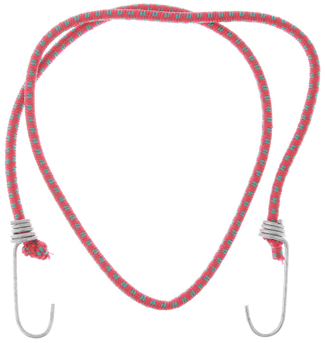 Резинка багажная МастерПроф, с крючками, цвет: красный, зеленый, 0,6 х 110 см. АС.020022АС.020022_красныйБагажная резинка МастерПроф, выполненная из синтетического каучука, оснащена специальными металлическими крюками, которые обеспечивают прочное крепление и не допускают смещения груза во время его перевозки. Изделие применяется для закрепления предметов к багажнику. Такая резинка позволит зафиксировать как небольшой груз, так и довольно габаритный.Материал: синтетический каучук.Температура использования: -15°C до +50°C.Безопасное удлинение: 60%.Диаметр резинки: 0,6 см.Длина резинки: 110 см.