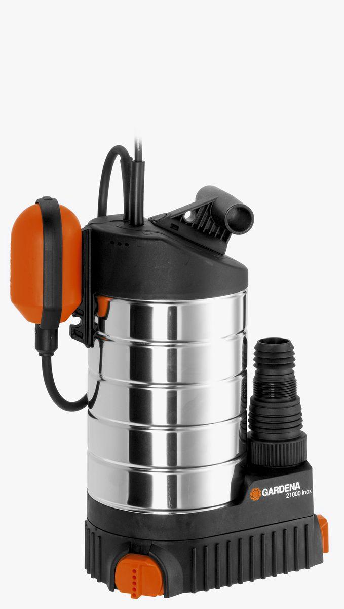 Насос дренажный Gardena 21000 inox Premium, для чистой воды01787-20.000.00Если вода появилась в неположенном месте и необходимо срочно принимать меры,например, чтобы предотвратить еще больший ущерб вашему дому - выбирайте дренажныйнасос 21000 inox Premium GARDENA, который позволит вам быстро и эффективнооткачать большой объем воды. Насос позволяет перекачивать до 21 000 л/ч чистой илислегка загрязненной воды с содержанием загрязняющих частиц диаметром до 5 мм.Поворотное основание насоса обеспечивает возможность откачивания воды доминимального остаточного уровня в 1 мм, то есть практически досуха. Поплавковыйвыключатель обеспечивает автоматическое включение и выключение насоса. Изменяяположение кабеля в фиксаторе, можно регулировать уровни включения и выключения спомощью поплавкового выключателя. Дополнительно подключаемый механизм позволяетпри необходимости легко перейти на постоянное ручное управление. Благодаря наличиюсилового кабеля длиной 10 м, практичный и надежный шланг может использоваться длявыполнения различных задач даже на очень большой глубине. Самые высокие требования,предъявляемые к модели премиум-класса, выполняются за счет использованиявысококачественных материалов. Благодаря высокой прочности корпуса насоса изнержавеющей стали, гарантируется надежность и длительный срок службы насоса.Износостойкое рабочее колесо насоса и не требующий технического обслуживаниямалошумный конденсаторный двигатель с термовыключателем для защиты от перегрузокобеспечивают бесперебойную эксплуатацию насоса. Наличие универсального соединителяпозволяет подключать к насосу шланги диаметром 13 мм (1/2 дюйма), 16 мм (5/8 дюйма),19 мм (3/4 дюйма), 25 мм (1 дюйм), 38 мм (1 1/2 дюйма) и 50 мм (2 дюйма).Максимальная производительность по нагнетанию: 21000 л/ч. Максимальное давление: 1,1 Бар. Тип силового кабеля: H07 RNF.