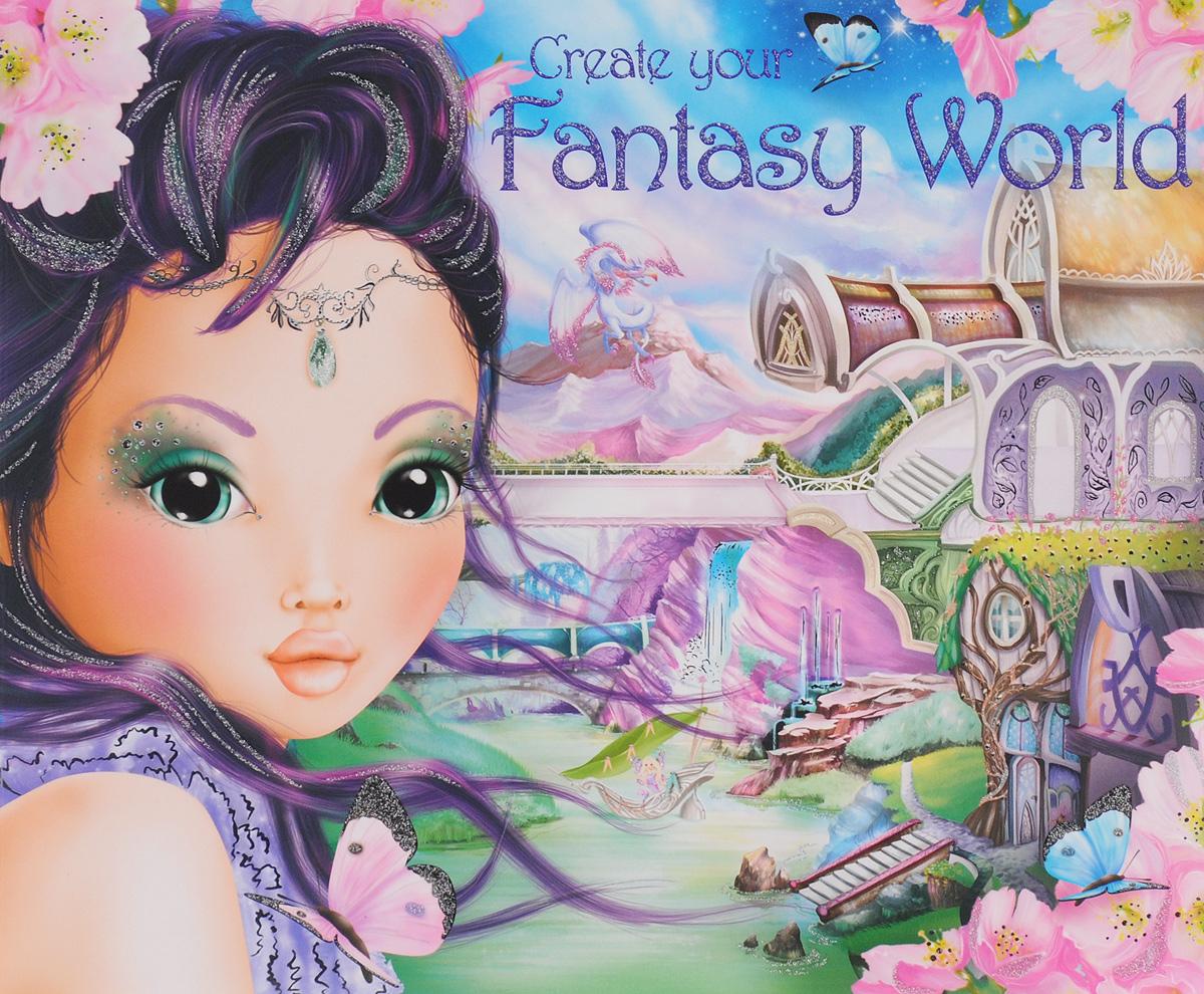 Top Model: Create Your Fantasy World. Развивающий постер с многоразовыми наклейками наклейки детские depesche альбом topmodel fantasy мир стикеров с наклейками