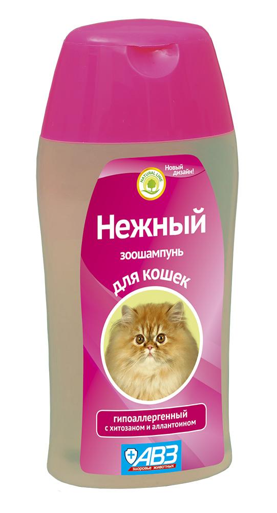 Шампунь АВЗ Нежный гипоаллергенный для кошек с хитозаном, 180 мл41892Гипоаллегренный шампунь АВЗ Нежный предназначен для мытья шерсти кошек. Он разработанна основе натуральных ингредиентов для чувствительной кожи.Мягкаяформула шампуня бережно и нежно очищает кожу и шерсть от загрязнений, не вызывает аллергических реакций.Состав: сукцинат хитозана и алоэвера.Увлажняет, питает и восстанавливает шерсть, способствуетлегкому расчесыванию.Прекрасно отмывает шерсть, придает блеск, способствует легкому расчесыванию, облегчает линьку животного.