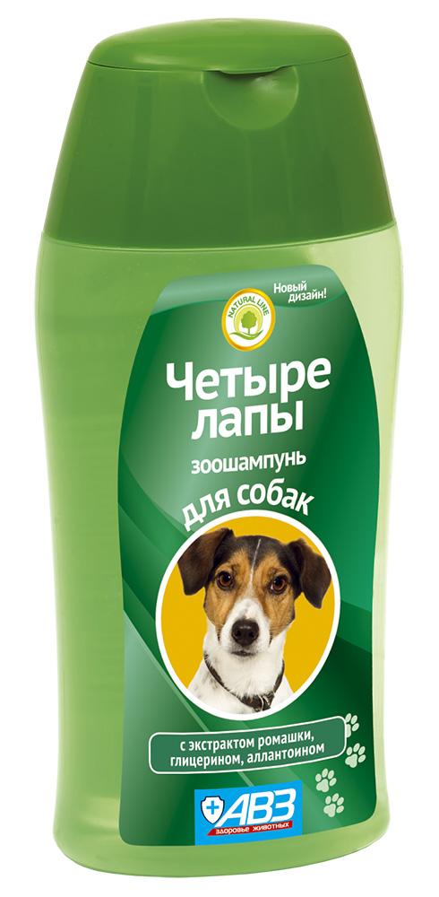"""Шампунь АВЗ """"Четыре лапы"""" для ежедневного мытья лап у собак, 180 мл"""