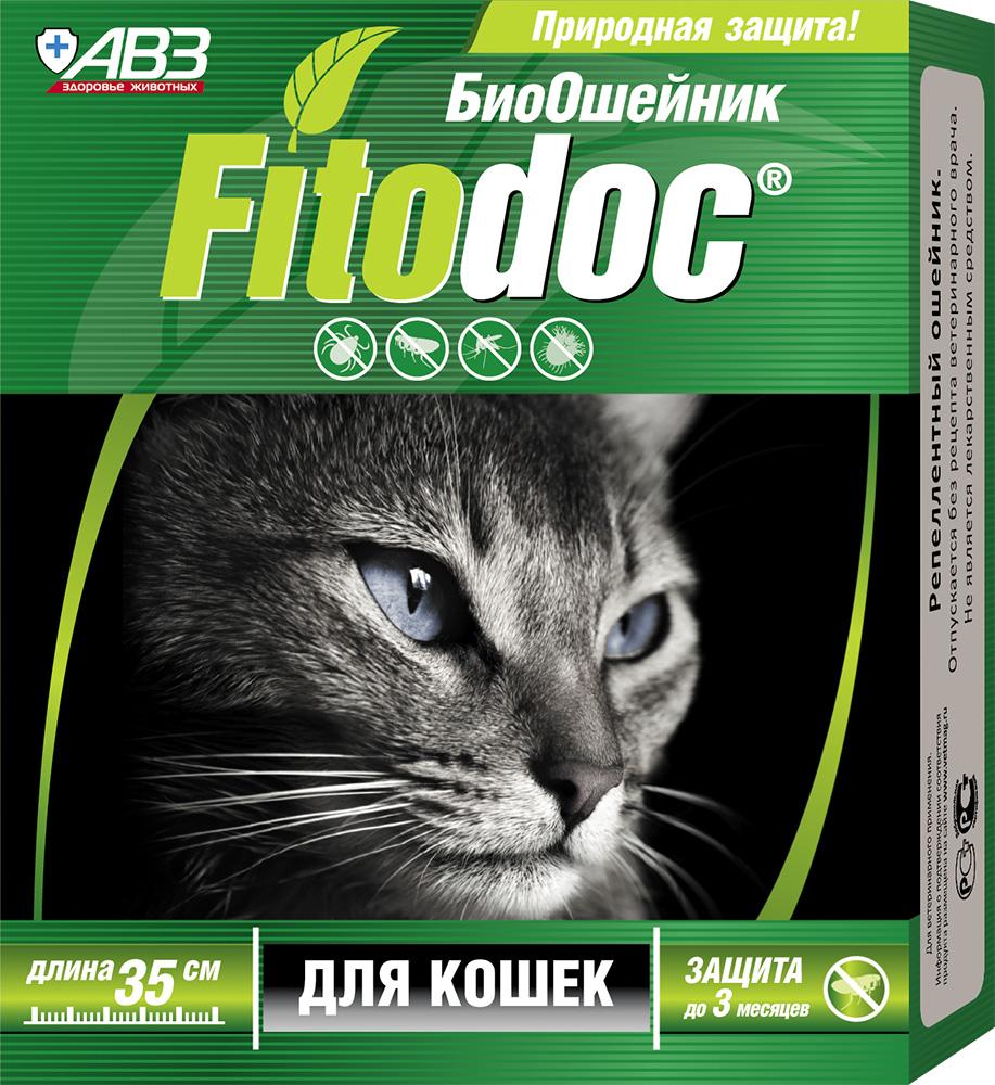 Био-ошейник АВЗ Фитодок, для кошек, 35 см ошейник строгий для собаки