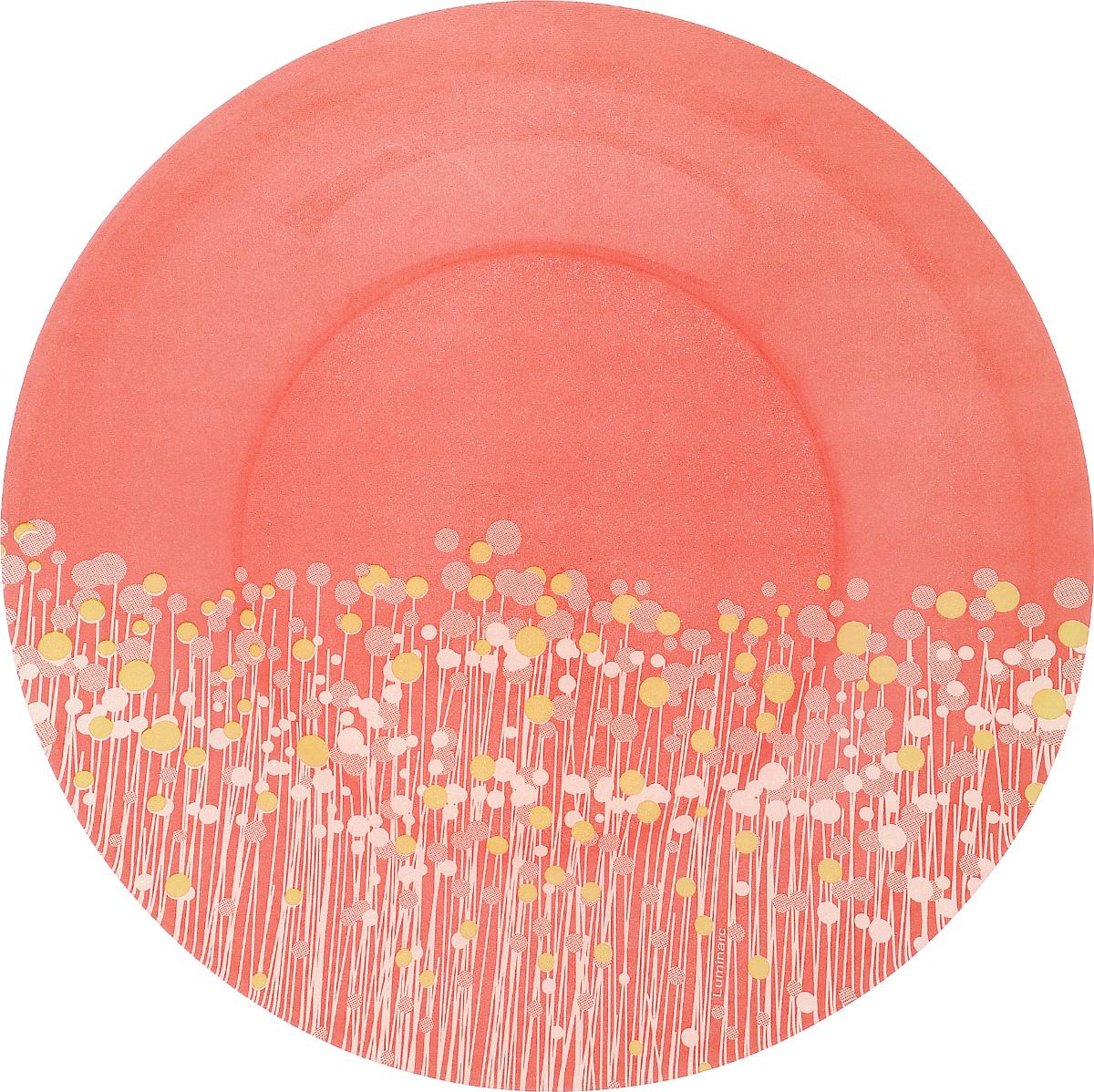"""Десертная тарелка Luminarc """"Flowerfield Red"""", изготовленная из  ударопрочного стекла, имеет изысканный  внешний вид.  Такая тарелка прекрасно подходит как для  торжественных случаев, так и для повседневного  использования.  Идеальна для подачи десертов, пирожных, тортов и  многого другого. Она прекрасно оформит стол и станет  отличным дополнением к вашей коллекции кухонной  посуды.  Диаметр тарелки (по верхнему краю): 19,5 см."""