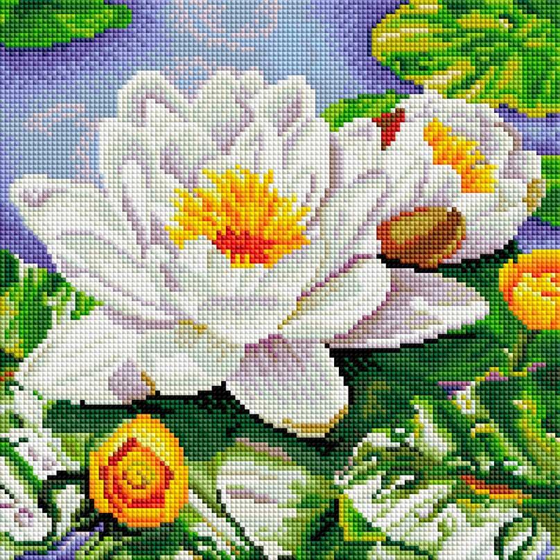 Алмазная мозаика на подрамнике Белоснежка