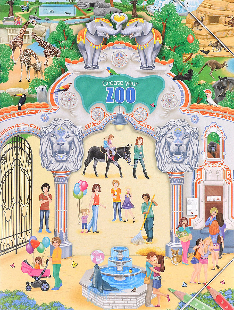 Creative Studio: Create your Zoo (альбом с наклейками)