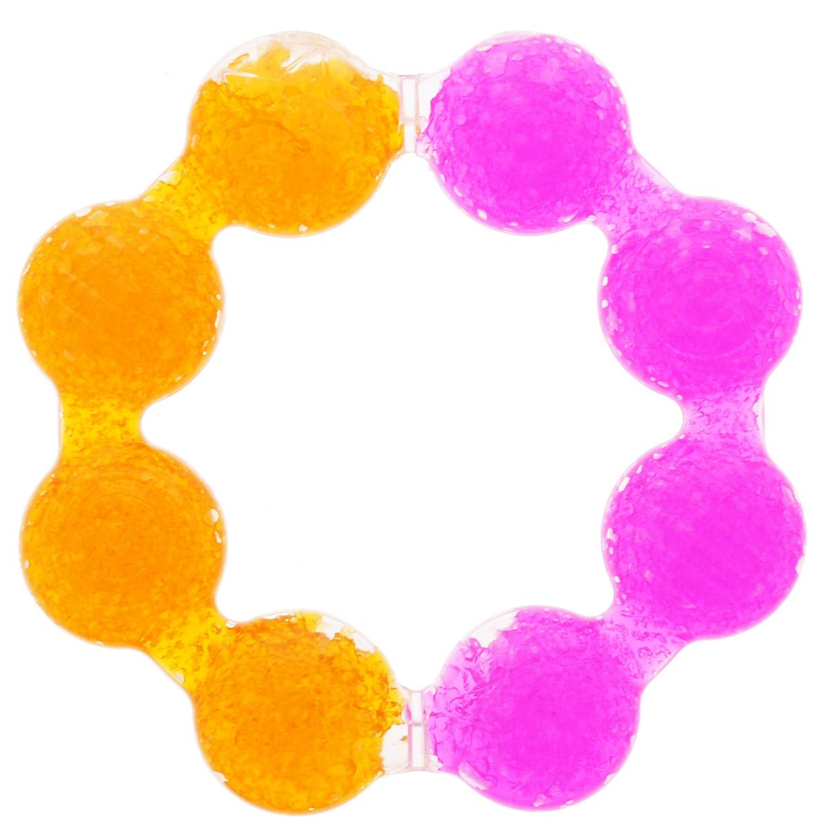 Munchkin Прорезыватель охлаждающий Цветок цвет розовый оранжевый munchkin прорезыватель охлаждающий ладошка цвет розовый