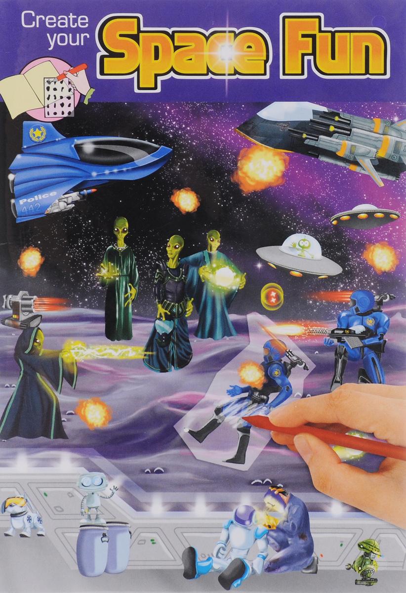 Creative Studio: Space Fun. Альбом с переводными наклейками