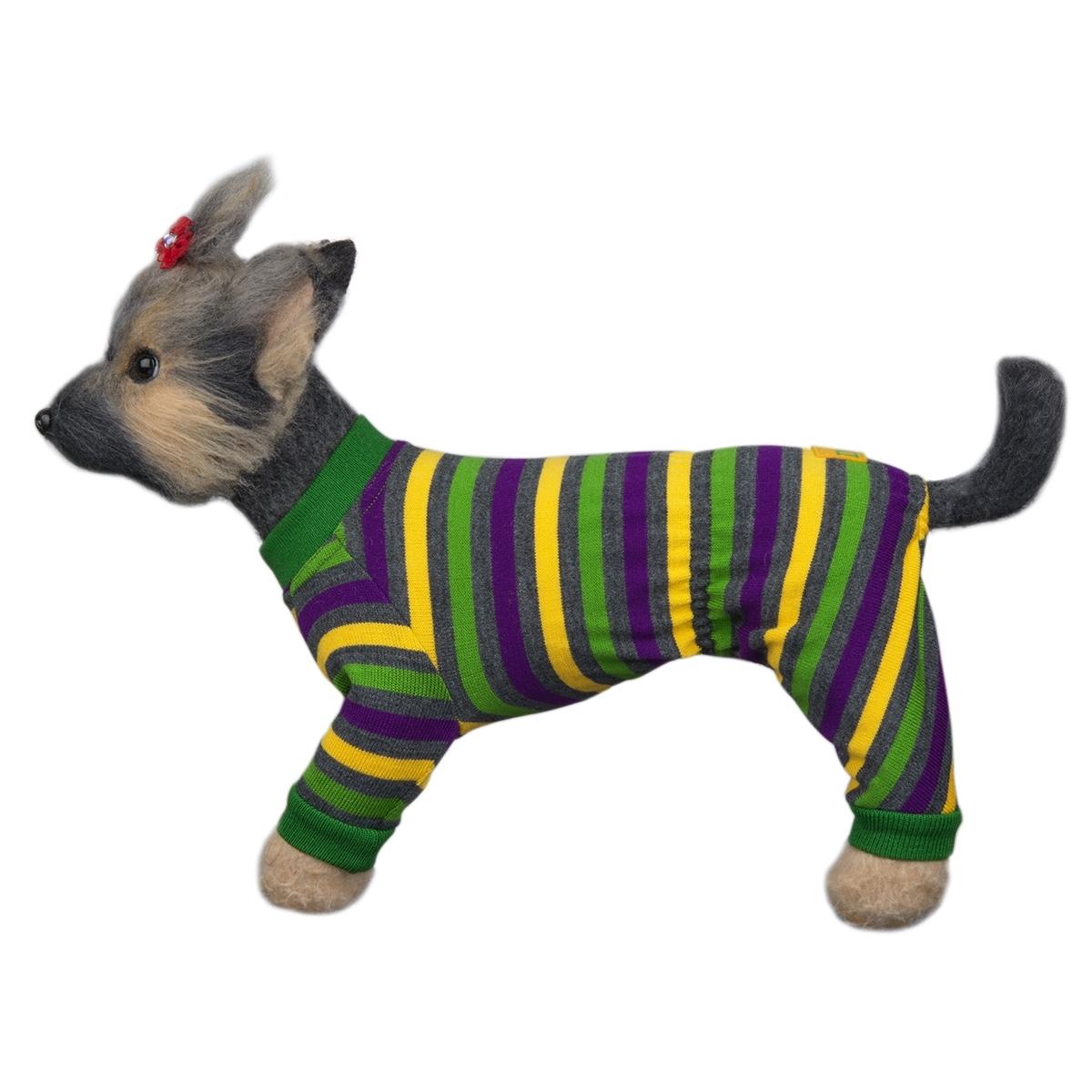 Свитер для собак Dogmoda Досуг, унисекс, цвет: зеленый, черный, желтый. Размер 4 (XL)