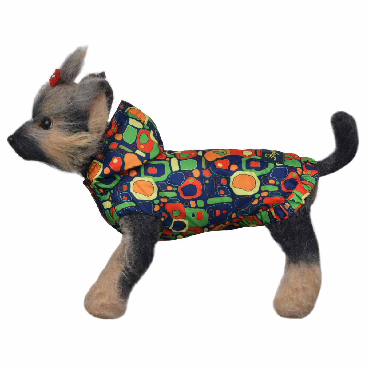 Ветровка для собак Dogmoda Сити, цвет: синий, желтый, зеленый. Размер 3 (L)DM-160108-3Ветровка для собак Dogmoda Сити изготовлена из водоотталкивающего полиэстера с подкладкой из натурального хлопка. Модная ветровка с капюшоном застегивается на металлические кнопки. Отверстия для передних лап и задняя часть выполнены с внутренними резинками. Изделие оформлено ярким оригинальным рисунком. Обхват шеи: 29 см.Обхват груди: 45 см.Длина по спинке: 28 см.