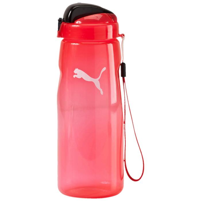 Бутылка для воды Puma Lifestyle, цвет: красный. 0528410205284102Бутылка для воды Lifestyle Water Bottle будет по достоинству оценена ведущими активный образ жизни людьми. Выполненная из качественных материалов, она оснащена удобным для питья носиком и ручкой для удобства транспортировки. Незаменима для спортсменов, занимающихся в спортивных залах и на свежем воздухе, бегунов, атлетов. Бутылка рассчитана на жидкости, температура которых не превышает 50°C. Оформлена логотипом Puma Cat.