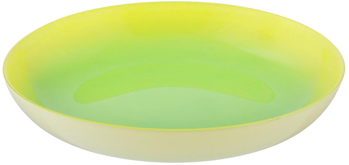 Тарелка глубокая Luminarc Fizz Mint, диаметр 20 смG9524Глубокая тарелка Luminarc Fizz Mint выполнена из ударопрочного стекла. Изделие сочетает в себеизысканный дизайн с максимальной функциональностью. Она прекрасно впишется в интерьер вашей кухни и станет достойным дополнением к кухонному инвентарю. Тарелка Luminarc Fizz Mint подчеркнет прекрасный вкус хозяйки и станет отличным подарком. Диаметр тарелки по верхнему краю: 20 см.