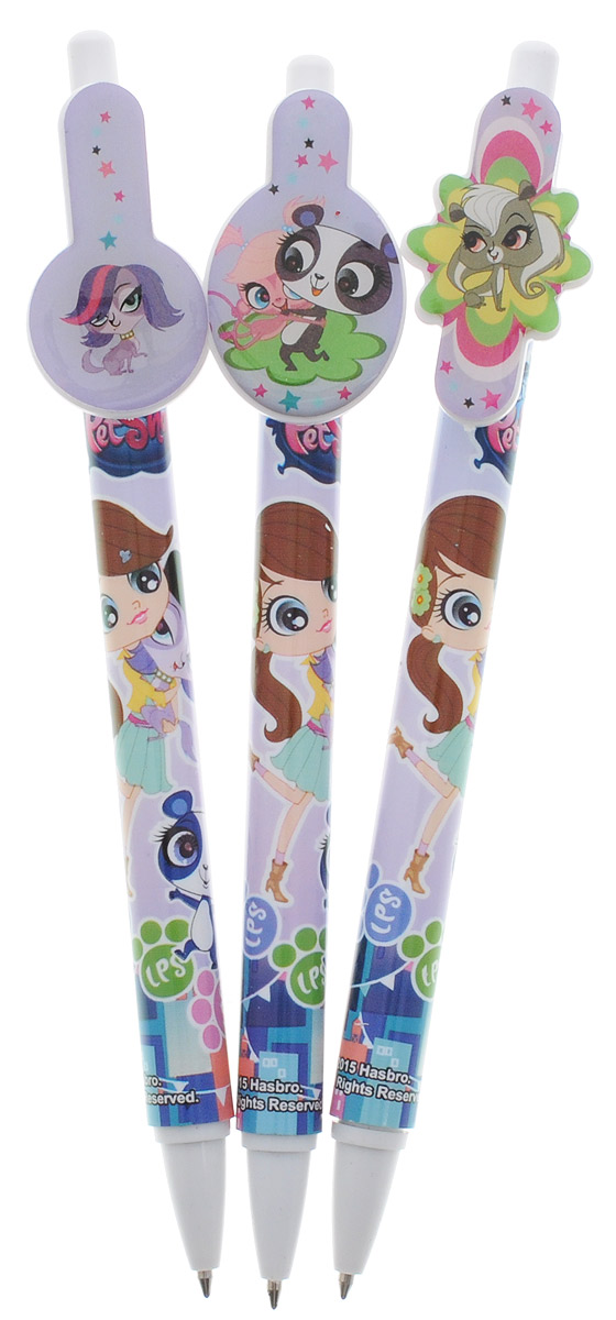 Littlest Pet Shop Набор шариковых ручек 3 шт 3 meters automatic retractable pet dog leash nylon rope