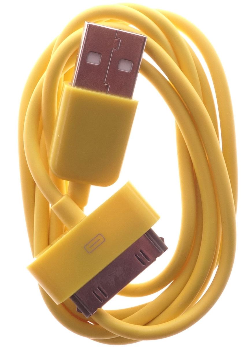 OLTO ACCZ-3013, Yellow кабель USBO00000264Кабель OLTO ACCZ-3013 для соединения устройств разъемом Apple 30-pin c USB-портом. Он может использоваться для передачи данных, зарядки аккумулятора и адаптирован для работы со всеми операционными системами. Главное достоинство OLTO ACCZ-3013 в его внешнем виде. Он выгодно отличается от привычных и скучных расцветок стандартных кабелей.