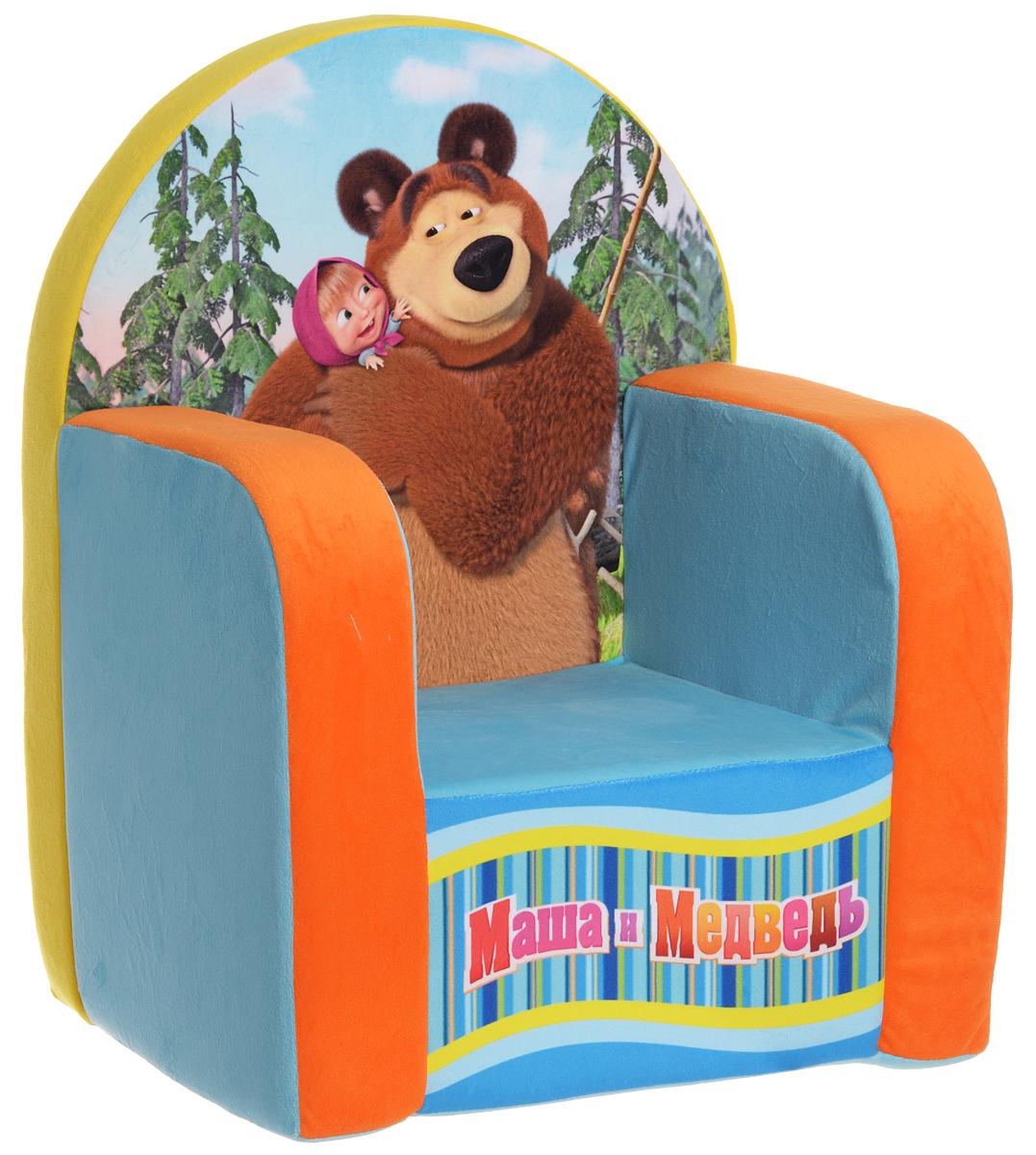 СмолТойс Мягкая игрушка Кресло Маша и Медведь 54 см, Смол Тойс
